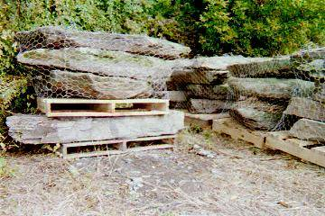 Large stepping stone for constucting waterfalls rock for Landscaping rocks york pa